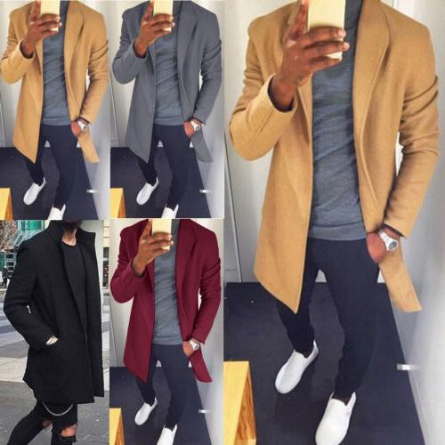 US Mens Warm Long Wrap Cardigan Coat Jacket Casual Outwear Sweater