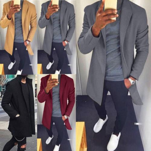 US Mens Long Wrap Jumper Coat Casual Sweater