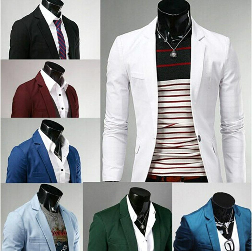 us seller men stylish slim fit one