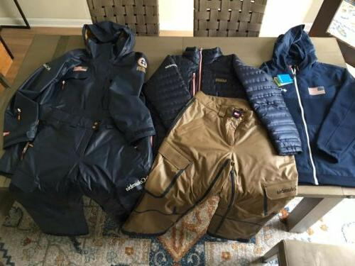 US Ski Team Olympic Uniform Jacket Pants Puffy And Hoodie -