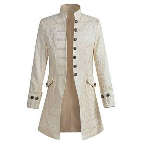 Vintage Mens Jacket Gothic Coat Cosplay