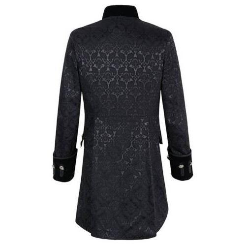 Vintage Mens Steampunk Jacket Gothic Coat Cosplay