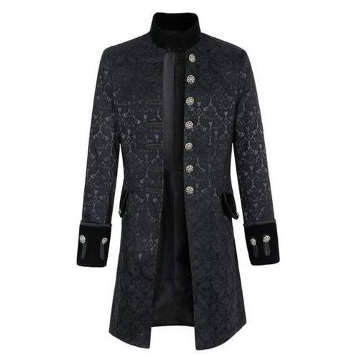 Vintage Steampunk Jacket Frock Coat