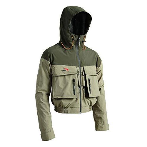 8 Fans Men's Wading Jackets - Breathable Windproof Hood Jacket Outdoor Hiking Safaris Hunting Fishing Jackets
