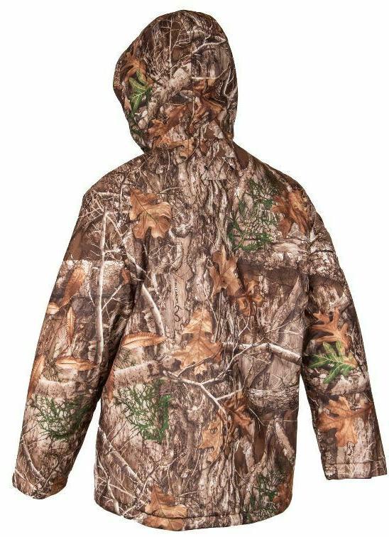 WATERPROOF EDGE Tricot XL LG Mens Insulated Parka Jacket Coat Camo