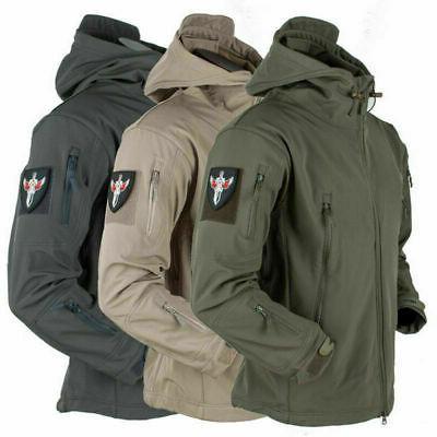 Mens Outdoor Waterproof Winter Jacket Coat Soft Shell Tactic