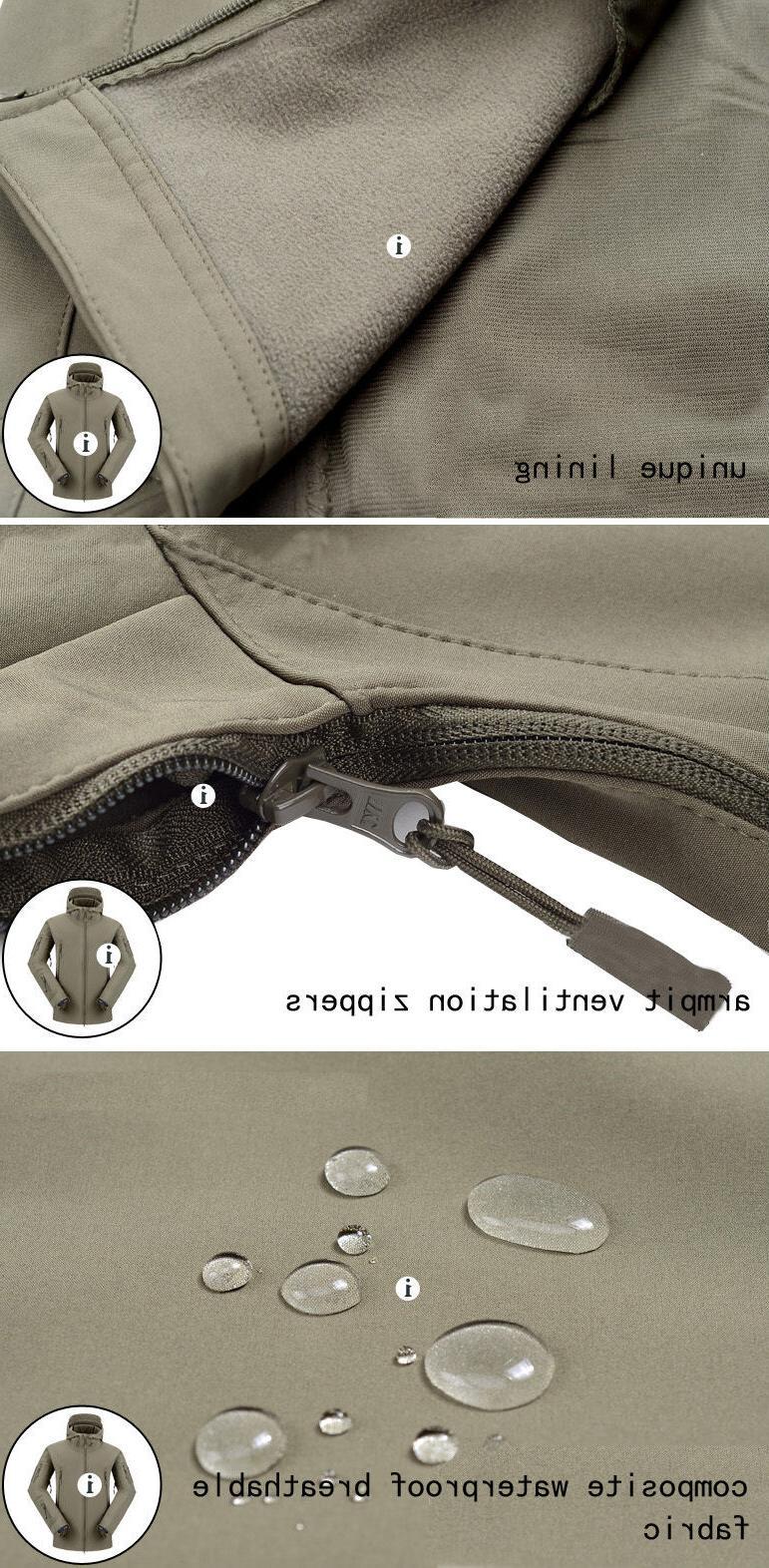 Waterproof Tactical Soft Mens Military Windbreaker