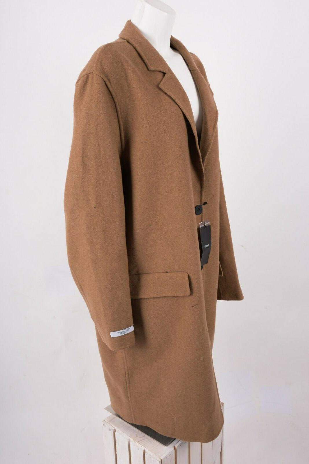 0b468f7f Bershka Zara Mens Jacket Coat Wool Camel L XL