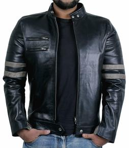 Leather Jacket For Men - Boy Original Lambskin Motorcycle Bi
