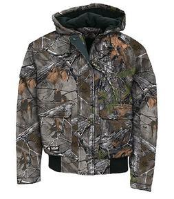 Walls Men's Insulated Hooded Jacket,Mossy Oak,US 2XL