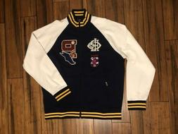 POLO RALPH LAUREN Letterman Track Jacket Men's Baseball Swea