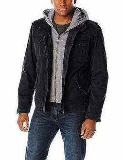 Levi's Men's Big & Tall Washed Cotton Four-Pocket Hooded