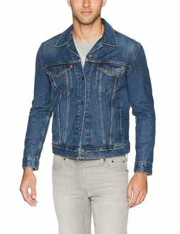 Levi's Men's Cotton Button Up Denim Jeans Trucker Jacket Mug