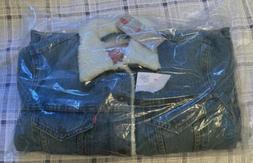 Levi's Men's Type III Sherpa Jacket Light Wash Blue Denim Si