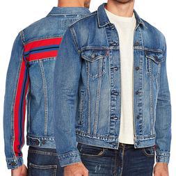 Levi's Men's Unibasic Icon Trucker Denim Red Stripe Jean Jac