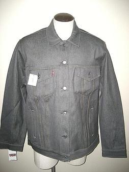 Levi's Mens Button up Denim Trucker Jean Jacket Rigid Grey 7