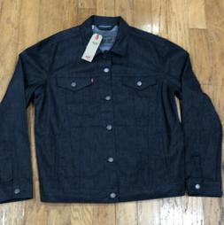 Levi's Mens Denim Jean Trucker Jacket Size L *flaw* NEW NWT
