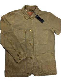 Levis Engineers Coat Mens Medium Khaki Jacket Chore Work Can