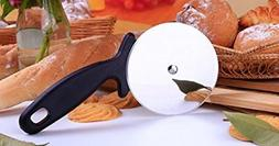 "LiangTing Pizza Wheel and Cutter 4"" Blade with Non- Slip Bla"