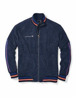 Champion Life Men Track Jacket Warm Up Terry Full Zip Pocket