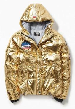 Champion Life™ Metallic Puffer Jacket Gold Men's Size La