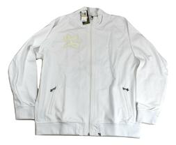 LRG Lifted Research Group Mens White Grass Roots Track Jacke