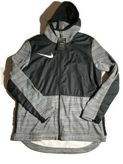 M NIKE THERMA Hoodie Jacket Mens Winterized Full Zip Basketb