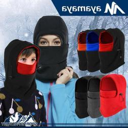 Man Women Kids Fleece Balaclava Hat Windproof Warm Neck Face