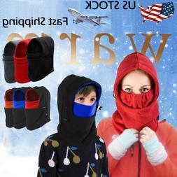 Man Women Kids Winter Warm Thermal Fleece Balaclava Hat Neck