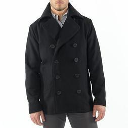 Alpine Swiss Mason Mens Wool Blend Pea Coat Jacket Double Br
