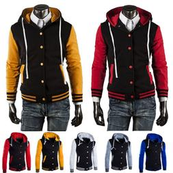 Men Boys Varsity Jacket Hoody College University Letterman B