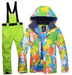 Men Boys Warm Waterproof Snowsuits Ski Snow Snowboard Jacket
