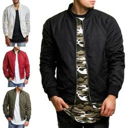Men Casual Business Jacket Thin Autumn Baseball Outerwear Bo