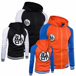 Men Dragon Ball Z Son Goku Anime Sweatshirt Jacket Hoodie Sw