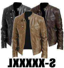 Men Genuine Lambskin Leather Jacket BLACK BROWN Slim fit Bik