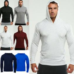 Men Hooded Hoodie Coat Jacket Outwear Sweater Fit Jumper Zip