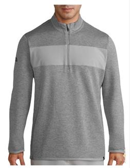 Adidas Men Performance Quarter Zip Pullover Jacket Gray Size