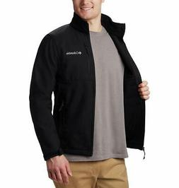 Columbia Men's Ascender Softshell Jacket, Water & Wind, Blac