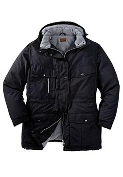 Boulder Creek Men's Big & Tall Expedition Parka, Black Big-5