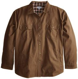 Carhartt Men's Big & Tall Weathered Canvas Jacket Snap Front