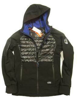 Superdry Men's Black/Cobalt Mountain Softshell Hybrid Hooded