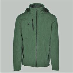 Men's Boy's Spyder Patsch Novelty Softshell Ski Jacket Green