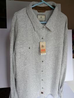 Legendary Whitetails Men's Button Down Light Gray Shirt Jack