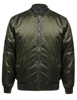 FashionOutfit Men's Classic Basic Air Force Flight Zipper De