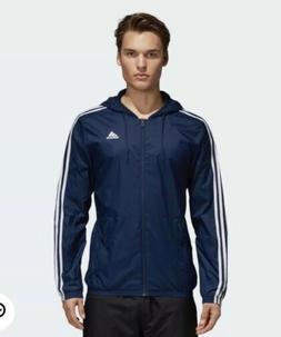 Adidas Men's Essentials 3-Stripes Wind Jacket Navy/ White BS