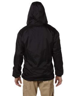 Dickies Men's Fleece Lined Hooded Jacket, Black, 3XL