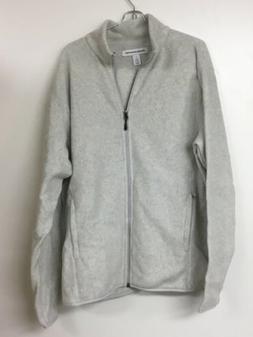 men s full zip polar fleece jacket