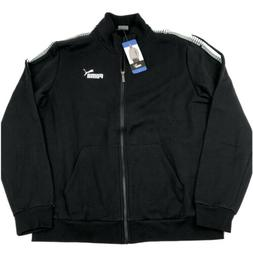 PUMA Men's Full Zip Track Jacket Black Large XL