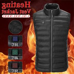 Electric USB Heated Warm Vest Men's Heating Coat Jacket Clot