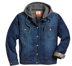 Legendary Whitetails Men's Hideout Denim Hooded Jacket Small